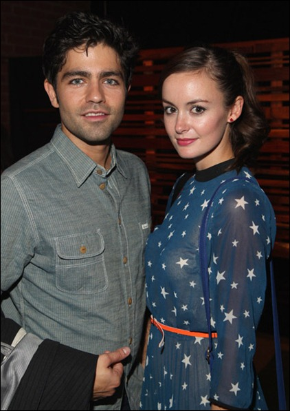 Actor Adrian Grenier and model Emily Caldwell attend SHFT Pop-Up Gallery And Shop Presented By Sungevity Opening Night Celebration