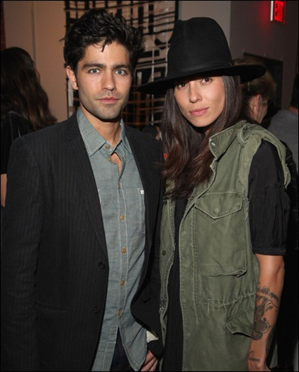 Actor Adrian Grenier and photographer Tasya Van Ree attend SHFT Pop-Up Gallery And Shop Presented By Sungevity Opening Night Celebration