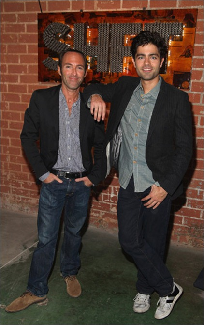 Peter Glatzer and Adrian Grenier attend SHFT Pop-Up Gallery And Shop Presented By Sungevity Opening Night Celebration